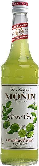 MONIN Premium Citron Verte / Lime Sirup 70 cl Frankreich