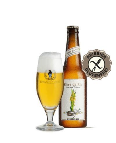 Appenzeller Birra da Ris GLUTENFREI Nostrana Ticinese 330 ml / 5 % Schweiz