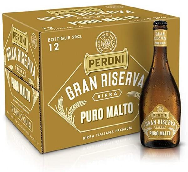 Peroni Gran Riserva PURO MALTO Kiste 12 x 50 cl / 5.2 % Italien
