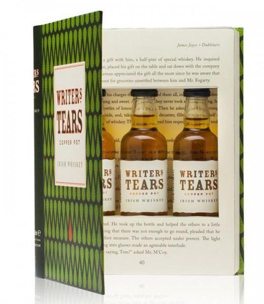WRITERS TEARS Whiskey Box in Buchform 3 x 5 cl / 40 % Irland