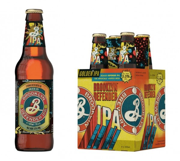 BROOKLYN DEFENDER GOLDEN IPA Beer Case 24 x 355 ml / 5.9 % USA