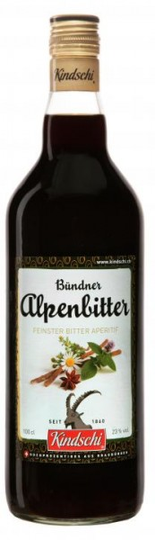 Bündner ALPENBITTER Likör 100 cl / 23 % Schweiz