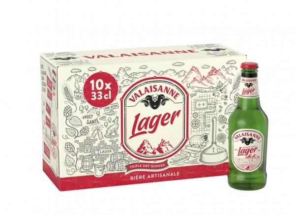 Valaisanne LAGER triple dry hopped Kiste 30 x 330 ml / 4.8 % Schweiz