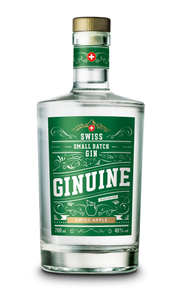 GINUINE Small Batch Gin SWISS APPLE 70 cl / 40 % Schweiz