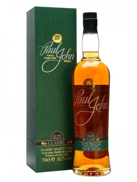 PAUL JOHN CLASSIC Select Cask Indian Single Malt Whisky 70 cl / 55.2 % Indien