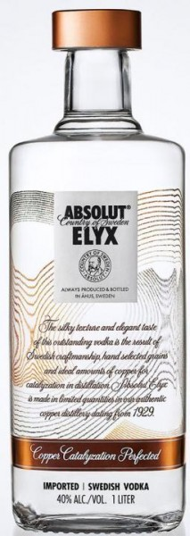 Absolut ELYX 100 cl / 40 % Schweden