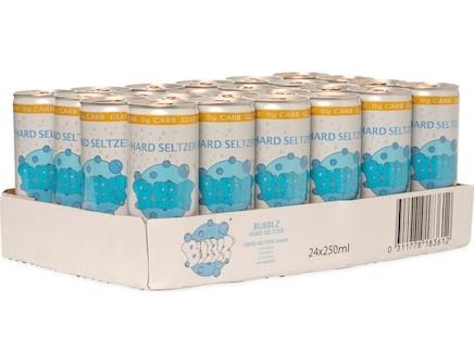 BUBBLZ Hard Seltzer TROPICAL Kiste 24 x 250 ml / 5 % UK