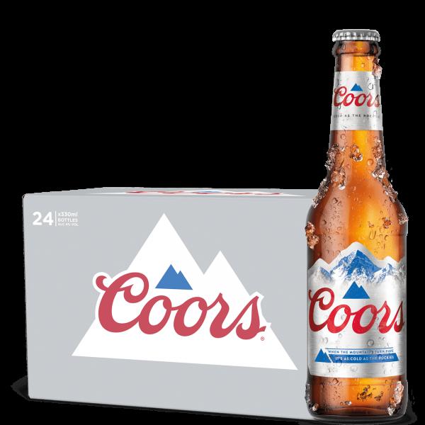 COORS (Ex-Light) Bier Kiste 24 x 330 ml / 4 % UK