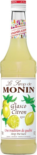 MONIN Premium Glasco / Citron Sirup 70 cl Frankreich