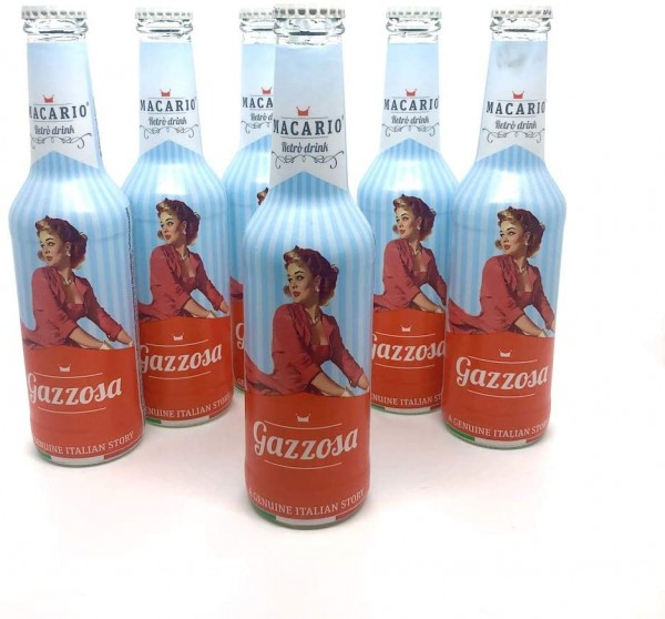 Macario GAZZOSA Retro Drink Kiste 24 x 275 ml Italien