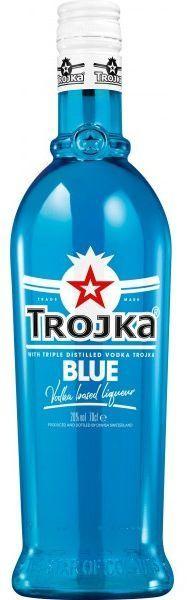 TROJKA BLUE Vodka Likör 70 cl / 20 % Schweiz