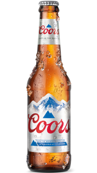 COORS (Ex-Light) Bier Glas 330 ml / 4 % UK