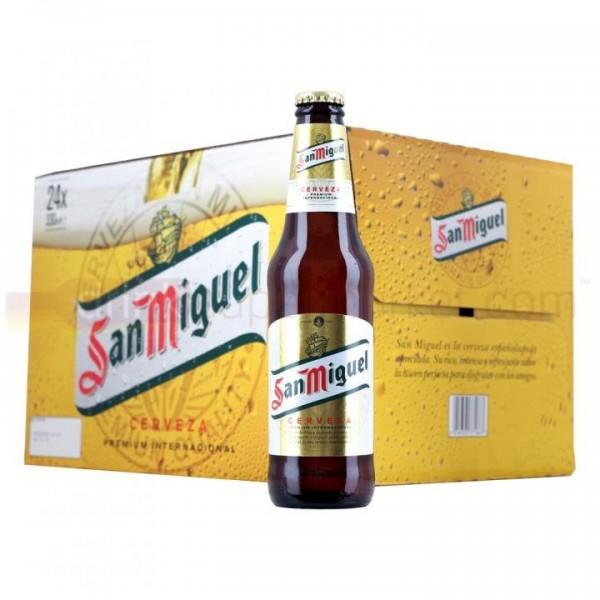 San Miguel Lager Bier Case 24 x 330 ml / 5.4 % Spanien