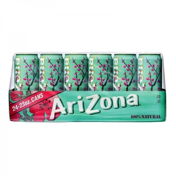 Arizona Green Tea with Ginseng and Honey Kiste 24 x 680 ml USA