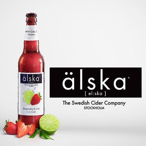 Älska STRAWBERRY & LIME Cider Cae 12 x 500 ml / 4 % Schweden