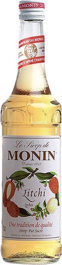 MONIN Premium Litchi / Lychee Sirup 70 cl Frankreich