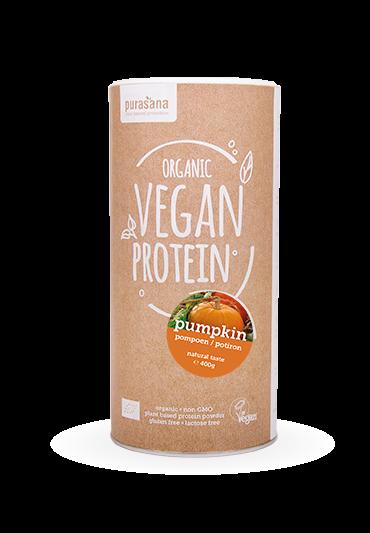 Purasana Vegan protein PUMPKIN - KÜRBIS NATURAL 65 % 400 Gramm BIO