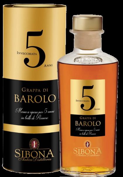 SIBONA Grappa Riserva Barolo 5 ANNI 50 cl / 44 % Italien