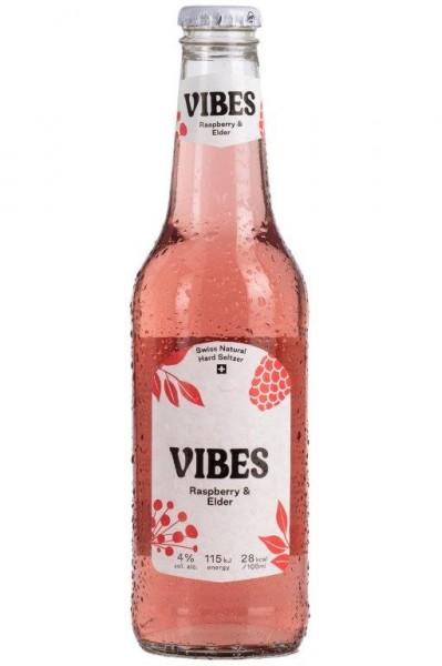 VIBES Hard Seltzer Raspberry & Elder 330 ml / 4 % Schweiz