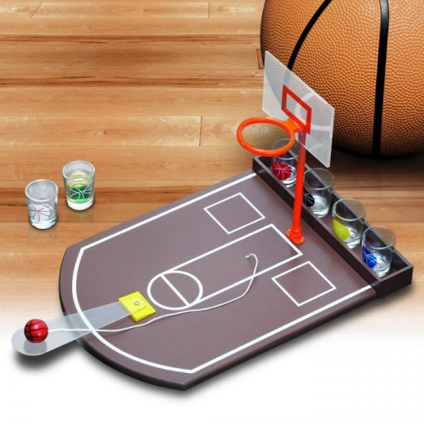 Drinking Game Basketball Set with 20 Cups by SUCK UK
