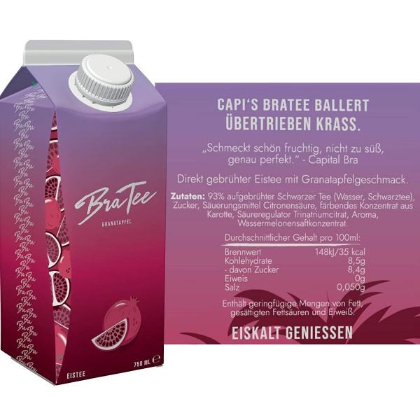 BraTee - Capital Bra Eistee GRANATAPFEL Kiste 24 x 750 ml Deutschland