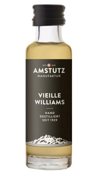 amstutz Edelbrände VIEILLE WILLIAMS Goldprämiert PORTION 2 cl / 36 % Schweiz