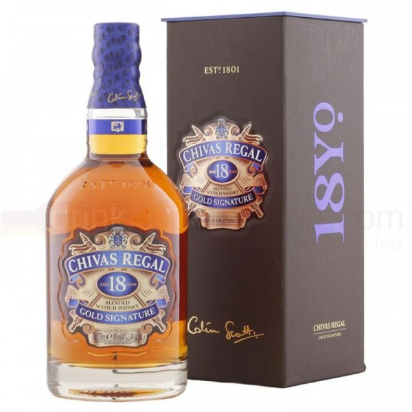 Chivas Regal 18 Jahre Gold Signature Blended Scotch Whisky 70 cl / 40 % Schottland