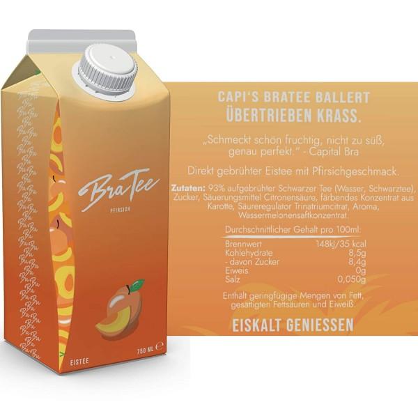 BraTee - Capital Bra Eistee PFIRSICH Kiste 24 x 750 ml Deutschland