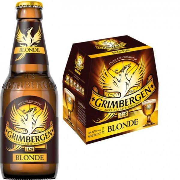 GRIMBERGEN BLONDE Bier Case 24 x 250 ml / 6.7 % Belgien