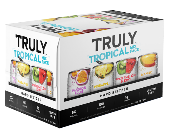 Truly Hard Seltzer TROPICAL Mix Pack 24 x 355 ml / 5 % USA