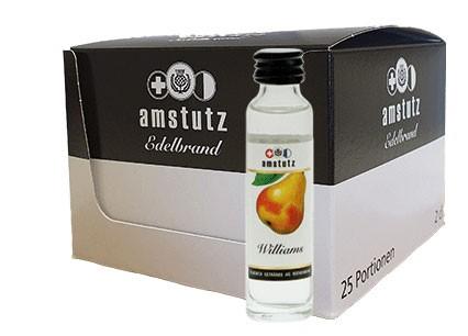 amstutz Edelbrand WILLIAMS PORTION Box 25 x 2 cl / 40 % Schweiz