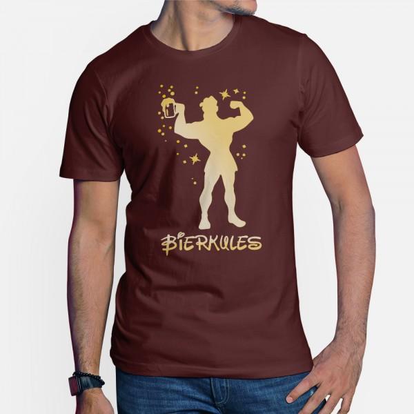 ShirtStar Premium BIERKULES T-Shirt HERREN Burgundy div. Grössen