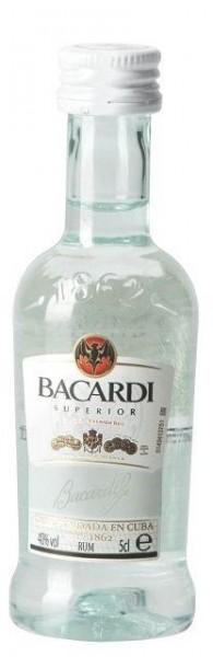 BACARDI Superior Blanco Rum Shot PET 5 cl / 40 % Puerto Rico