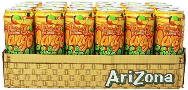 Arizona Mango Lime Rickey Sparkling Case 24 x 695 ml USA