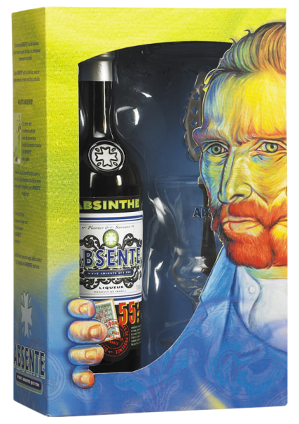 Absente 55 Absinth Box mit Glas & Löffel 70 cl / 55 % Frankreich