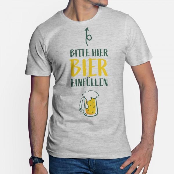 ShirtStar Premium HIER EINFÜLLEN T-Shirt HERREN Grau Ash Meliert div. Grössen