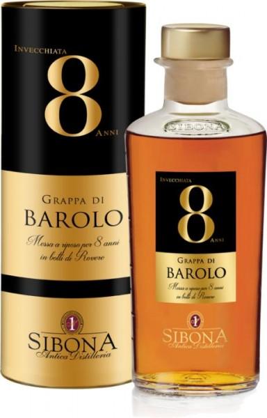 SIBONA Grappa Riserva Barolo 8 ANNI 50 cl / 44 % Italien