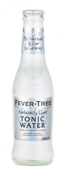 FEVER-TREE SLIM TONIC Water LOWER IN CALORIES 200 ml UK