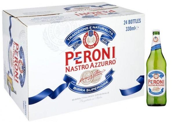 PERONI Nastro Azzurro Bier Kiste 24 x 330 ml / 5.1 % Italien