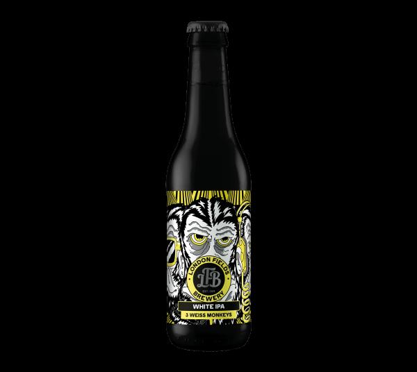 London Fields Brewery 3 WEISS MONKEYS White IPA 330 ml / 5 % UK