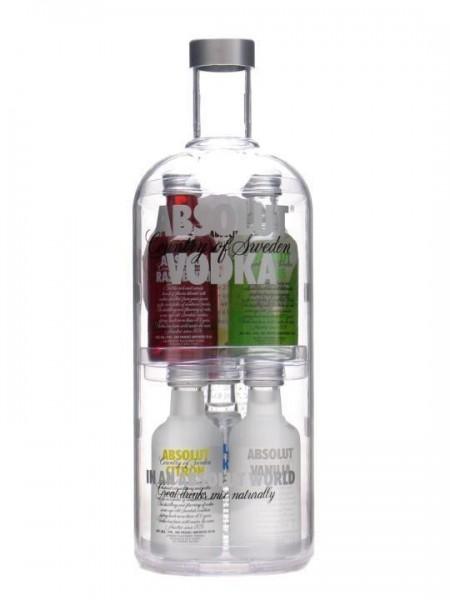 Absolut Vodka Geschenkset 5 x 50 cl / 40 % Schweden