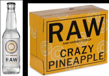 RAW Hard Seltzer CRAZY PINEAPPLE Kiste 20 x 330 ml / 5 % Schweiz