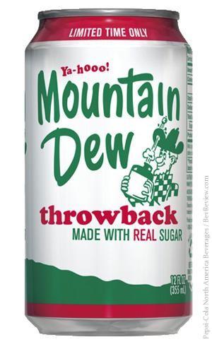 Mountain Dew THROWBACK 355 ml USA