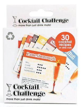 Cocktail Rezept Untersetzer 30 Stück by suck uk