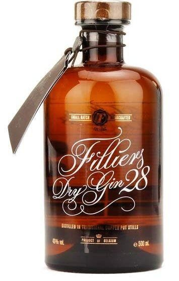Filliers Dry Gin 28 Botanicals 50 cl / 46 % Belgien