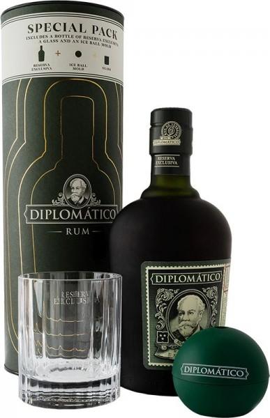 DIPLOMATICO Rum Reserva Exclusiva Box Iceball & Glas 70 cl / 40 % Venezuela