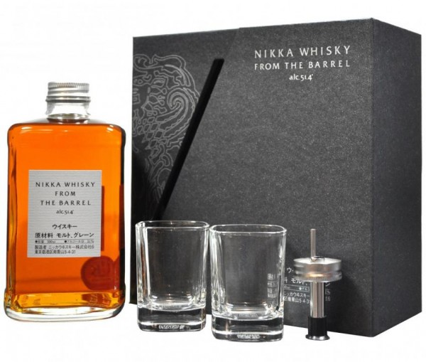 NIKKA SET from the Barrel Blended Whisky mit 2 Gläsern uns Ausgiesser 50 cl / 51.4 % Japan