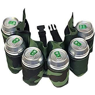 BEER BELT - Biergürtel für 6 Dosen im Tarnmuster