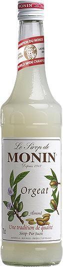 MONIN Premium Mandel / Orgeat / Almond Sirup 70 cl Frankreich