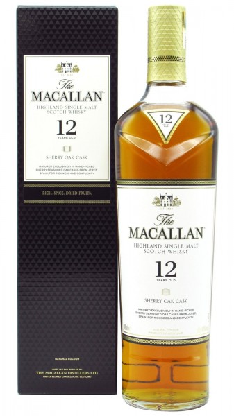 The Macallan 12 Year Old Sherry Oak Single Malt Whisky 70 cl / 40 % Schottland